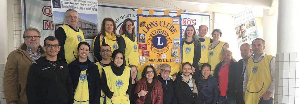 Cristalcopo faz doação de 60 lentes em evento do Lions Clube de Içara