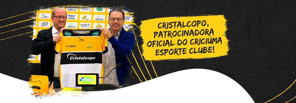 Cristalcopo é patrocinadora oficial do Criciúma E.C.