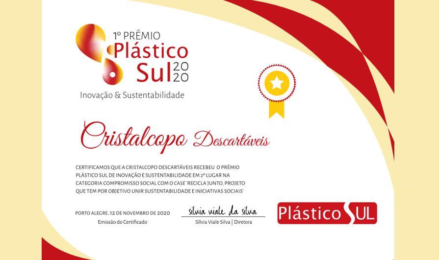 1° Prêmio Revista Plástico Sul 2020!